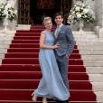 Jazmin Grace Grimaldi au mariage de son cousin Louis Ducruet. Les 26 et 27 juillet 2019 à Monaco.