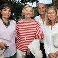 """Exclusif - Marie-Odile Amaury et ses amis avant le concert """"Depardieu Chante Barbara"""" au Festival de Ramatuelle, France, le 11 août 2019."""