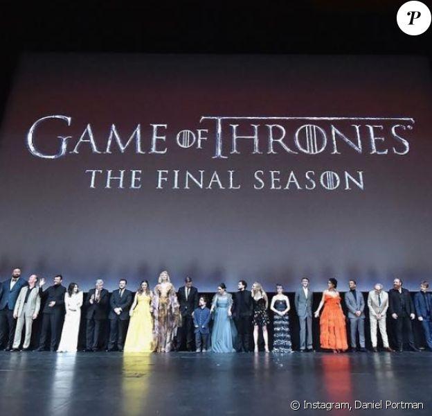 Le cast de la série Game of Thrones fête le début de la dernière saison à New York. Avril 2019.