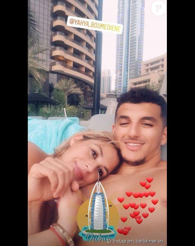 Marion Bartoli publie une photo avec Yahya Boumediene à Dubaï dans ses stories Instagram le 15 août 2019.