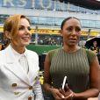 Mel B (Melanie Brown) et Geri Halliwell - Les célébrités lors du Grand Prix automobile de Grande-Bretagne à Silverstone au Royaume-Uni, le 14 juillet 2019.