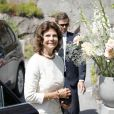 La reine Silvia de Suède assistait le 18 juillet 2019 aux funérailles d'Anki Wallenberg à l'église de Dalaro, à Stockholm, un mois après sa mort dans le naufrage de son voilier sur le lac Léman.