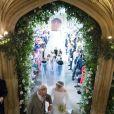 Meghan Markle, duchesse de Sussex et Le prince Charles, prince de Galles - Cérémonie de mariage du prince Harry et de Meghan Markle en la chapelle Saint-George au château de Windsor, Royaume Uni, le 19 mai 2018.
