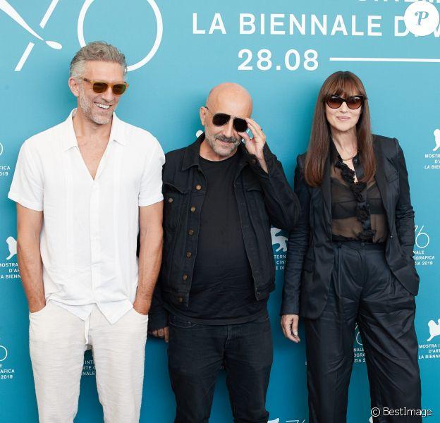 Vincent Cassel, Gaspar Noé et Monica Bellucci - Photocall du film Irreversible Inversion Integrale lors du 76ème Festival du Film de Venice à Venice en Italie, le 31 août 2019