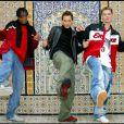 Les Linkup - Matt Pokora , Lionel Tim et Otis a Yasmina Hammamet ( Tunisie ) pour tourner l'emission du reveillon du jour de l'an sur M6 Music .