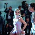 """Lily-Rose Depp, Timothée Chalamet - Tapis rouge du film """"The King"""" lors du 76ème festival international du film de Venise, la Mostra, le 2 septembre 2019."""