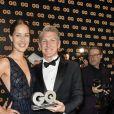 """Bastian Schweinsteiger et sa femme Ana Ivanovic à la soirée des """"GQ Men Awards 2018"""" à Berlin, le 8 novembre 2018.08/11/2018 - Berlin"""