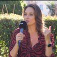 """Julia Vignali en interview pour """"Purepeople"""", pour la promotion du """"Meilleur Pâtissier"""", le 3 septembre 2019"""