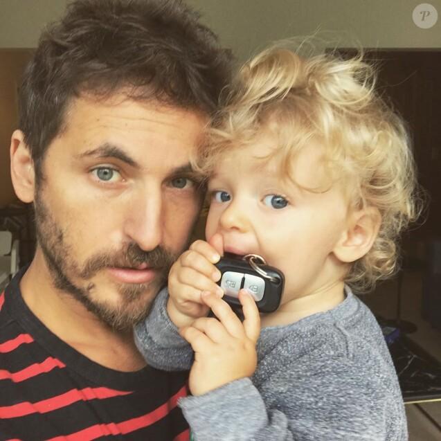 Mickael Miro et son fils sur Instagram.