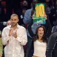 Eva Longoria et Tony Parker lors d'un match de basket : un sport qu'ils adooooorent !