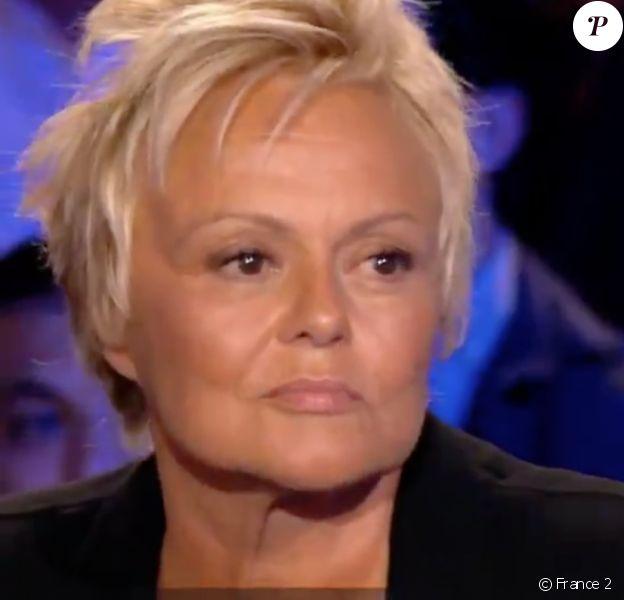 Muriel Robin dans l'émission On n'est pas couché, sur France 2, le samedi 7 septembre 2019.