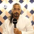"""Moundir en pleine promotion de """"Danse avec les stars 2019"""", le 4 septembre, chez TF1, au micro de """"Purepeople"""""""