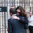 Julie la compagne d'Anthoine - Obsèques du jeune pilote Anthoine Hubert en la cathédrale de Chartres le 10 septembre 2019.