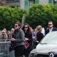 Nathalie, la mère de Anthoine, Julie la compagne d'Anthoine, Victhor, le frère d'Anthoine - Obsèques du jeune pilote Anthoine Hubert en la cathédrale de Chartres le 10 septembre 2019.