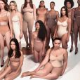 Campagne de Kim Kardashian pour SKIMS, sa marque se sous-vêtements sculptants - Instagram.