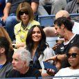 Meghan Markle, duchesse de Sussex, dans les tribunes de la finale femme du tournoi de l'US Open 2019 opposant Serena Williams à Bianca Andreescu au Billie Jean King National Tennis Center à New York, le 7 septembre 2019.