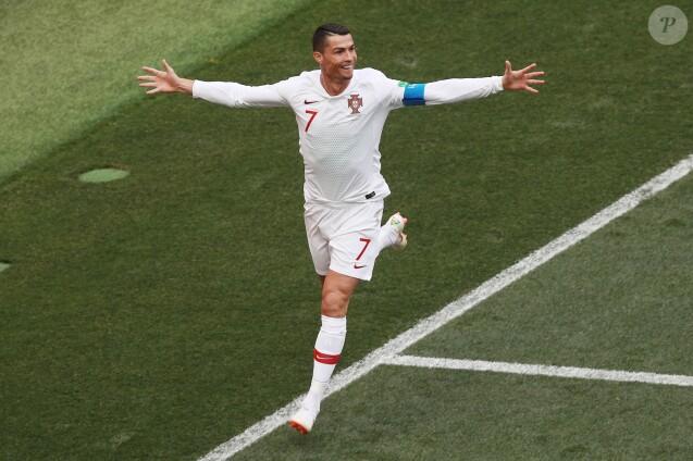"""Cristiano Ronaldo durant le match """"Maroc - Portugal"""" lors de la Coupe du Monde 2018 (FIFA World Cup Russia2018). Moscou, le 20 juin 2018."""