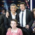 Patrick Bruel et Nagui - Telethon 2013 dans les studios de television de La Plaine-Saint-Denis le 7 Decembre 2013. Le Telethon 2013 a recolte cette annee plus de 78 millions d'euros de promesses de dons.