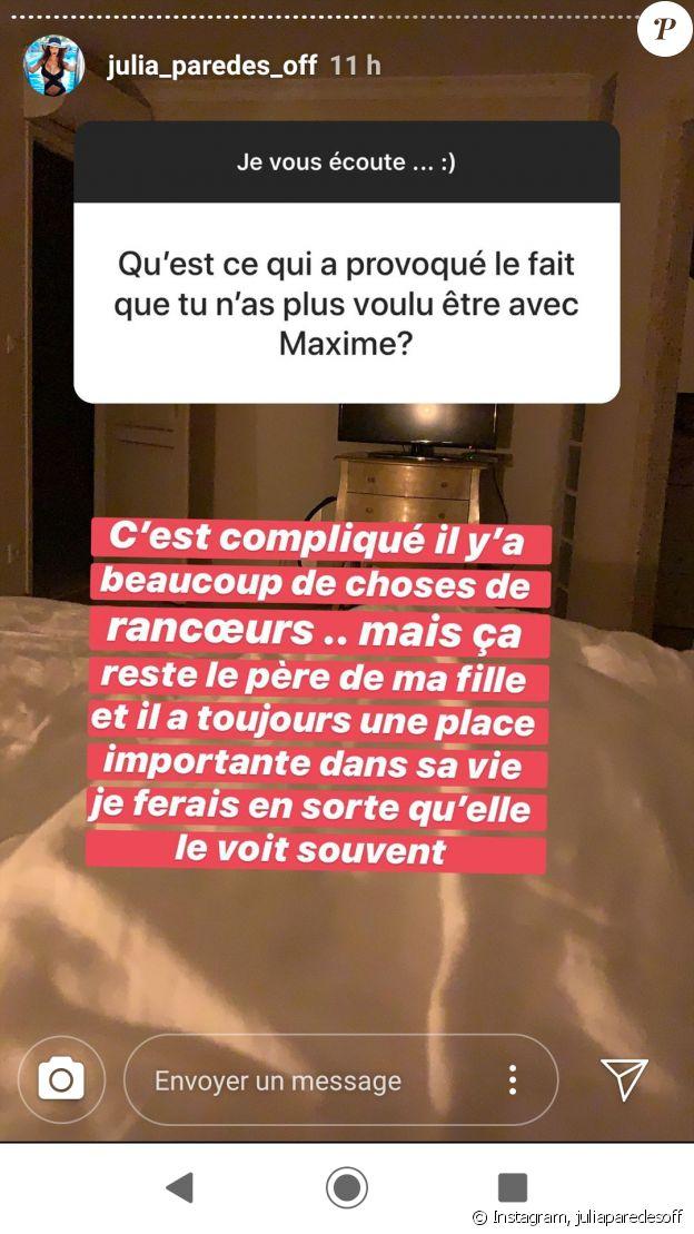 Julia Paredes parle de sa rupture avec Maxime - Instagram, le 19 septembre 2019