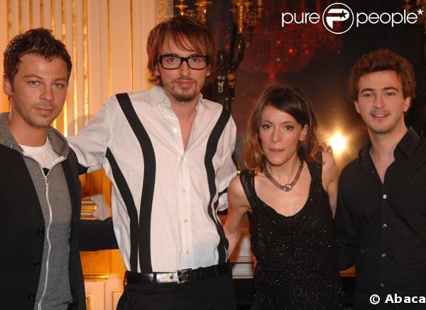 Les artistes Renan Luce, Emilie Loizeau, Christophe Maé et Christophe Willem à la conférence de presse des Victoires de la Musique 2008