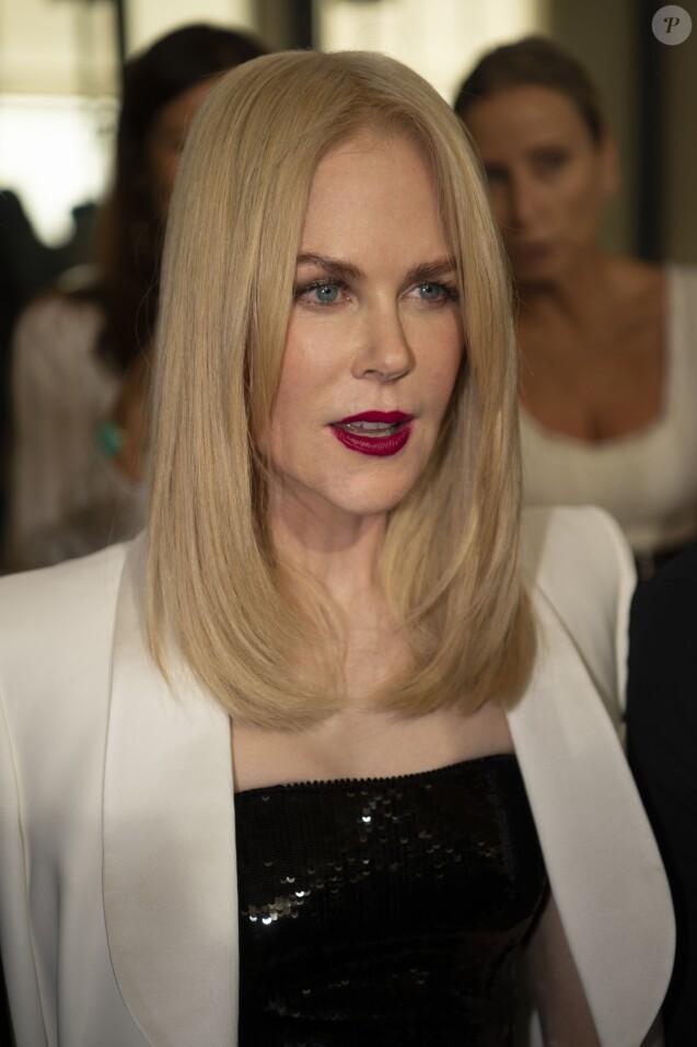 """Nicole Kidman au défilé """"Giorgio Armani"""" lors de la Paris Fashion Week, le 3 juillet 2019."""