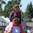 Exclusif - Jenna Dewan se balade avec son compagnon Steve Kazee et sa fille Everly Tatum au Farmer Market à Los Angeles. Le 25 août 2019