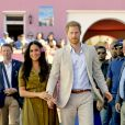 Le prince Harry, duc de Sussex, et Meghan Markle, duchesse de Sussex, en visite à Bo Kaap à Cape Town, Afrique du Sud. Le 24 septembre 2019  On september 24th 2019. The Duke and Duchess of Sussex visit the Bo Kaap area of Cape Town to mark Heritage Day, a celebration of the great diversity of cultures, beliefs and traditions in South Africa, on day two of their tour of Africa.24/09/2019 - Cape Town