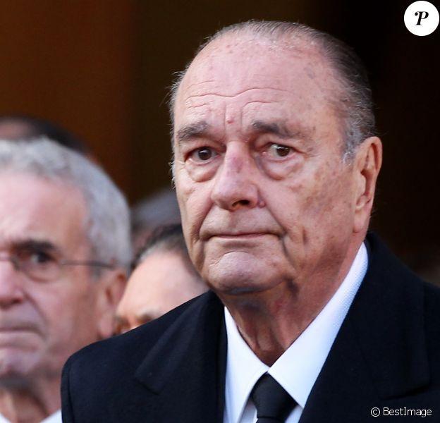 Jacques Chirac - Obèsques de Bernard Niquet, à Paris, 2011.