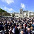 Sorties des obsèques de l'ancien président de la République Jacques Chirac en l'église Saint-Sulpice à Paris. Le 30 septembre 2019 © JB Autissier / Panoramic / Bestimage
