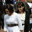 Carla Bruni et Michelle Obama à Caen, le 6 juin
