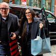 Demi Moore arrive à son hôtel avant de se rendre au Met Gala à New York, le 3 mai 2019