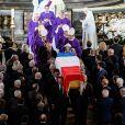 Le cercueil de Jacques Chirac lors de ses obsèques en l'eglise Saint-Sulpice, à Paris, le 30 septembre 2019 © Eliot Blondet / Pool / Bestimage