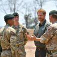 Le prince Harry, duc de Sussex, rend hommage au soldat Mathew Talbot, tué le 5 mai 2019 par un éléphant au Liwonde National Park (Malawi), le 30 septembre 2019, dans le cadre de son voyage officiel en Afrique du Sud.