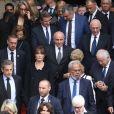 Nicolas Sarkozy et sa compagne Carla Bruni - Sorties des obsèques de l'ancien président de la République Jacques Chirac en l'église Saint-Sulpice à Paris. Le 30 septembre 2019 © Dominique Jacovides / Bestimage