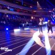 """Yoann Riou et Emmanuelle Berne sur un lindy hop lors du troisième prime de """"Danse avec les stars 2019"""", le 5 octobre, sur TF1"""