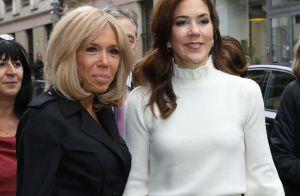 Brigitte Macron et Mary de Danemark se retrouvent à Paris avec style