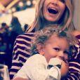 Ingrid Chauvin pose avec son fils Tom, sur Instagram, en septembre 2019.
