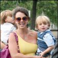 Britney Spears se balade dans Paris avec ses fils à Paris le 7 juillet