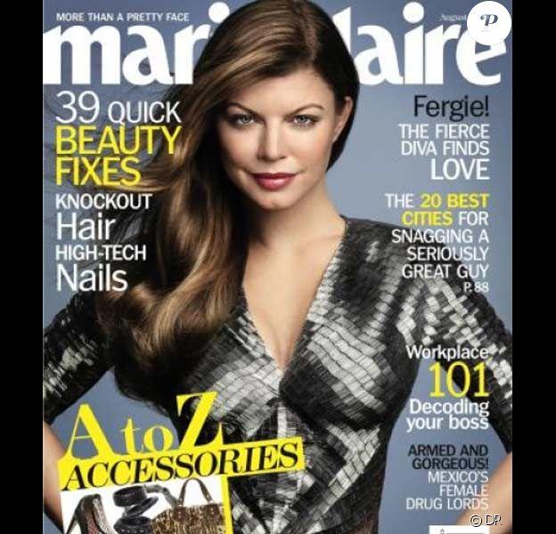 Fergie en couverture de Marie Claire du mois d'août 2009