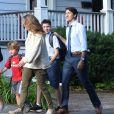 Justin Trudeau avec sa femme Sophie Gregoire et leurs enfants Xavier, Ella Grace et Hadrien à Ottawa, le 11 septembre 2019.