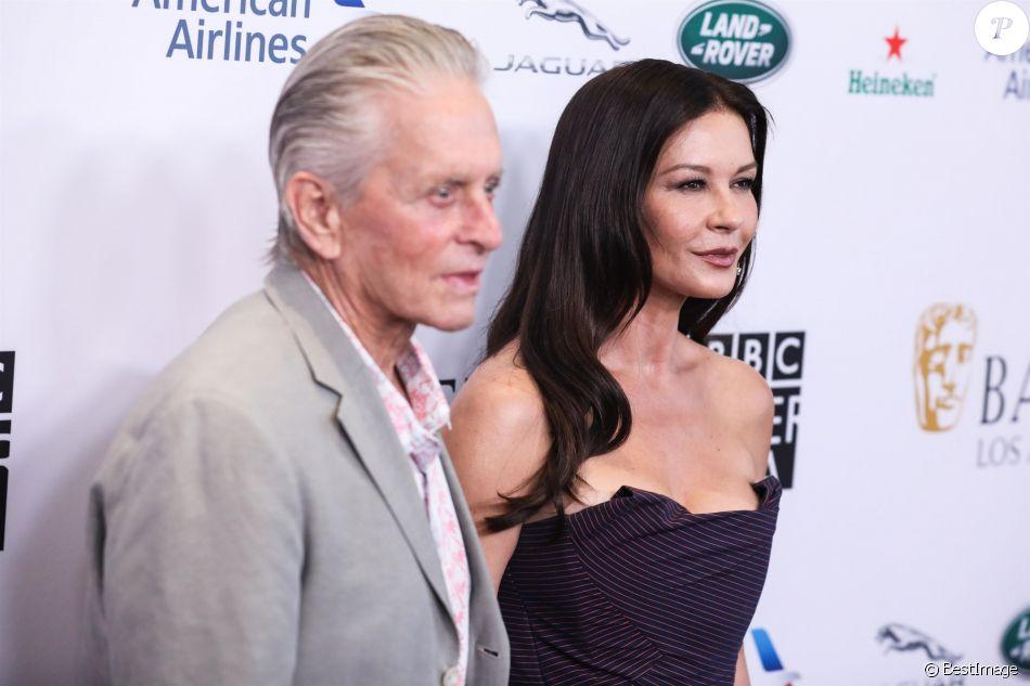 Michael Douglas, et sa femme Catherine Zeta-Jones - Tapis rouge de la soirée BBC America TV à Los Angeles Le 21 septembre 2019