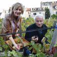 Yann Arthus-Bertrand et Sophie Mounicot (Parrain et marraine de la fête des Vendanges de Montmartre) - Vendanges des vignes du Clos Montmartre à Paris le 12 octobre 2019. © Giancarlo Gorassini/Bestimage