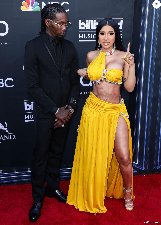 """Offset et sa compagne Cardi B - People à la soirée des """"Billboard Music Awards 2019"""" au MGM Grand Garden Arena à Las Vegas. Le 1er mai 2019"""