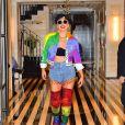 Lady Gaga aux couleurs de la Gay Pride sort de son hôtel à New York Le 28 Juin 2019