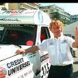Laurent Bourgnon au départ du rallye de Tunisie, le 11 avril 1999, à Nice