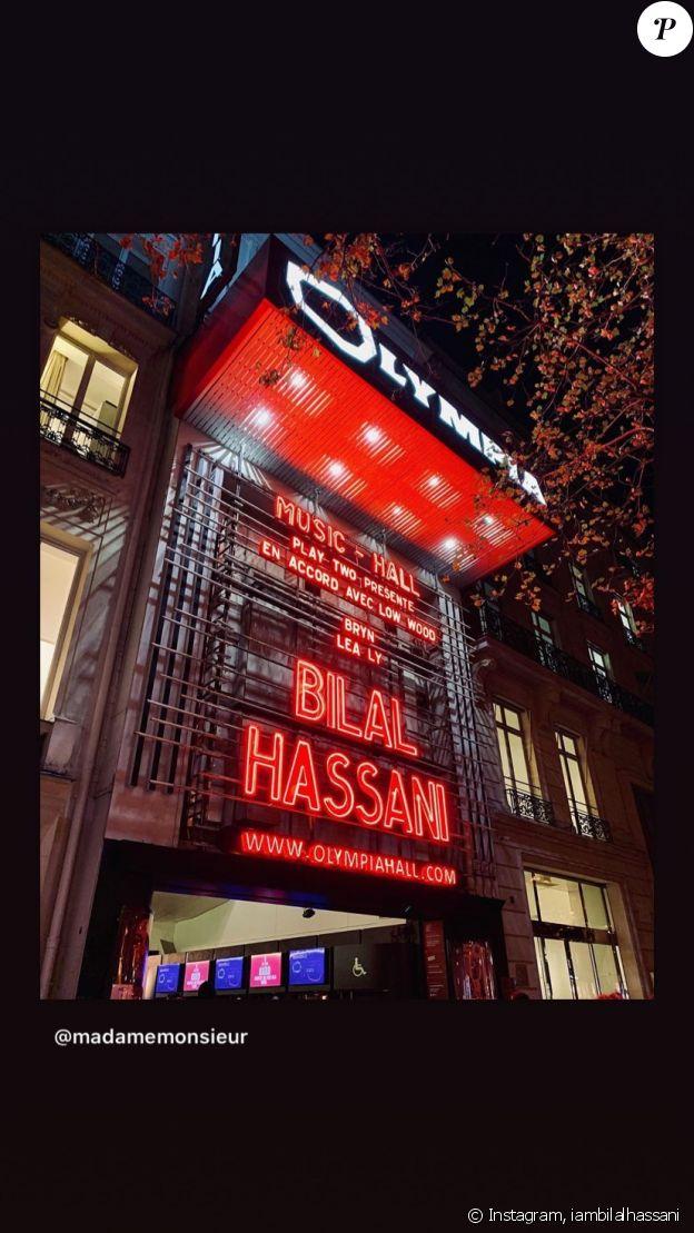 Bilal Hassani en concert à L'Olympia, à Paris- 21 octobre 2019.