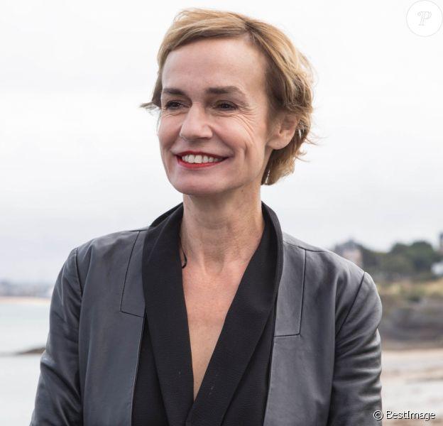 Sandrine Bonnaire, présidente du jury - Photocall du jury du 30ème Festival du Film de Dinard. Le 26 septembre 2019. © Jérémy Melloul / Bestimage