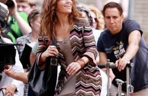 Jennifer Lopez toujours amincie, en plein travail à New York... elle n'oublie pas ses enfants !