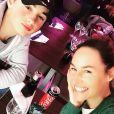 Vanessa Demouy au restaurant avec son fils Solal - 16 mars 2019