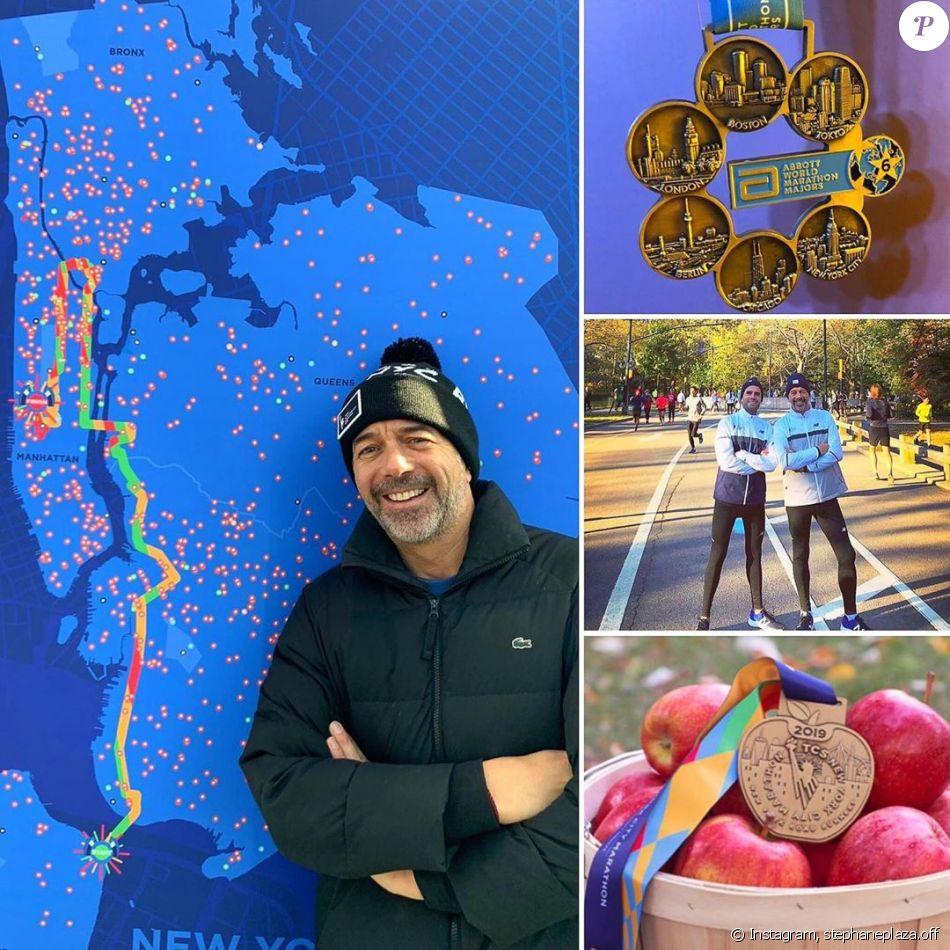 Stéphane Plaza à New York pour le marathon, novembre 2019.